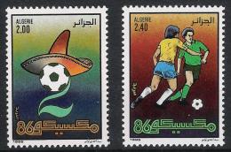 1986 Algerien Mi# 911-912 ** MNH Fußball Football Soccer Sport WM FIFA Mexico 86 - Fußball-Weltmeisterschaft