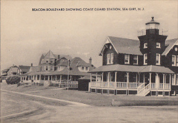 BEACON BOULEVARD SHOWING COAST GUARD STATION SEA GIRT . N J - Andere