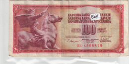 Billets - B1036 - Yougoslavie   - Billet 100 Dinara 1978 ( Type, Nature, Valeur, état... Voir 2scans) - Yugoslavia