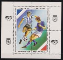 1990 Argentinien Mi# Bl. 40 ** MNH Fußball Football Soccer Sport WM FIFA Italien 90 - Fußball-Weltmeisterschaft