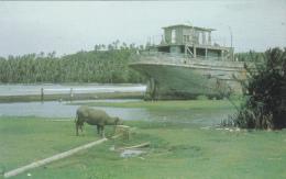 Barge Ship Wreck , Inarajan Channel , GUAM , 1951 - Guam
