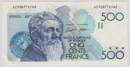B00338 500 Francs Meunier Van Droogenbroek Verplaetse XF/About Unc NBBB-85 - [ 2] 1831-... : Royaume De Belgique