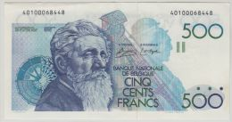 B00343 500 Francs Meunier Simonis De Strijcker VF NBBB-84 - 500 Francs