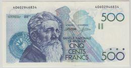 B00345 500 Francs Meunier Demanet Godeau About UNC NBBB-85 - [ 2] 1831-... : Koninkrijk België