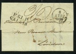 1828 - ENTIRE LETTER - CALAIS To LONDON - Marcophilie (Lettres)