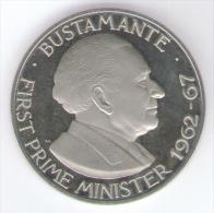GIAMAICA 1 DOLLAR 1974 FONDO SPECCHIO - Giamaica
