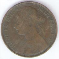 GRAN BRETAGNA 1 PENNY 1893 - 1816-1901 : Coniature XIX° S.
