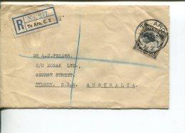 (400) New Zealand To Australia Commercial Registered Cover - Posted In 1935 - Storia Postale