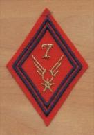 Ecusson Patch Losange ALAT Aviation Légére Armée De Terre / 7° Régiment ARTILLERIE ( Cadre ) - Ecussons Tissu