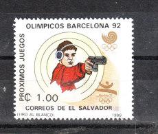 S. Salvador   -   1988.  Tiro Con La Pistola A Seul '88.  Pistol Shooting In Seoul '88 .  MNH - Tiro (armi)