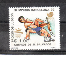 S. Salvador   -   1988.  Lotta A Seul '88.  Wrestling In Seoul '88 .  MNH - Lotta