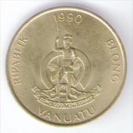 VANUATU 5 VATU 1990 - Vanuatu