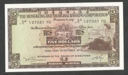 [NC] HONG KONG - SHANGHAI BANKING CORPORATION - 5 DOLLARS (1973) - Hong Kong