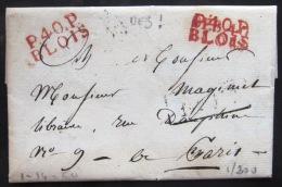 MARQUE LINEAIRE DE BLOIS  --  1817  --  INDICE 14 - 1801-1848: Precursori XIX