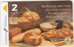Latvia Old Phonecard - Chip Card - Martins Bija Labs Virins - 2 Lati - 12/2001 - Latvia