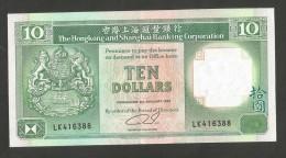 [NC] HONG KONG - SHANGHAI BANKING CORPORATION - 10 DOLLARS (1991) - Hong Kong