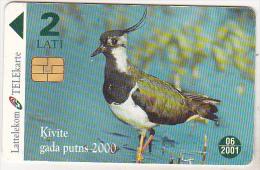 Latvia Old Phonecard - Chip Card - Kivite Gada Putns -21000 - 2 Lati - 06/2001 - Latvia