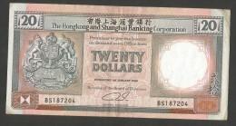 [NC] HONG KONG - SHANGHAI BANKING CORPORATION - 20 DOLLARS (1990) - Hong Kong