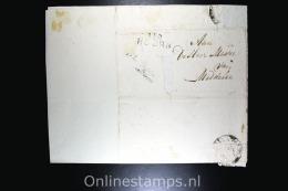 """Nederland Comp. Brief Departementstempel Hoorn Naar Middelie, 1813  Portvrijdom Sous Prefet De L""""Arrondis Dep. Zuiderzee - Nederland"""