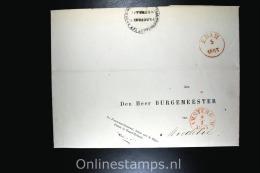 Nederland Comp. Brief  1853 Rijkspolitie Noord Holland, Naar  Middelie Door Uytwerf Sterling Procureur RP NH - 1852-1890 (Wilhelm III.)