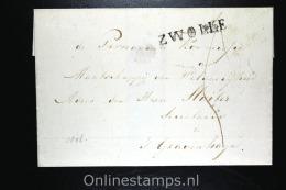 Nederland Comp Brief 1826 Departement Stempel Zwolle Naar Den Haag - Nederland