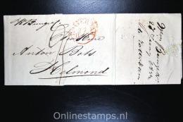 Nederland Comp Brief 1834 Rotterdam Naar Helmond - Niederlande