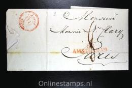 Nederland Complete Brief 1812 Amsterdam Naar Parijs - Niederlande