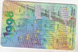 Singapore Old Phonecard - 1998 Calendar- 154SIGA - 5 $ - Singapour