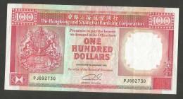 [NC] HONG KONG - SHANGHAI BANKING CORPORATION - 100 DOLLARS (1992) - Hong Kong