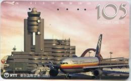 Telefonkarte Japan - Flugzeug,Flughafen  - JAS - 231-163 - Avions