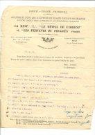 FRANC MACONNERIE  :GODF LE REVEIL DE L ORIENT ET FERVENTS DU PROGRES Réunis  Invitation  TENUE SOL - Vecchi Documenti