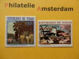 Tchad 1968, ARTS / HENRI ROUSSEAU / LA CHARMUSE DE SERPENTS: Mi  201-02, ** - Kunst