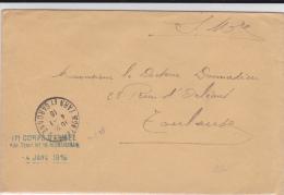 TARN ET GARONNE - 1916 - ENVELOPPE De L´HOPITAL TEMPORAIRE N°18 De MONTAUBAN - Marcophilie (Lettres)