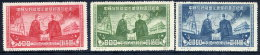 CHINA ) 1950 Soviet Treat Of Friendship Set Of 3  Reprints MNH / (*).  Sc. 74-76 - Reimpresiones Oficiales