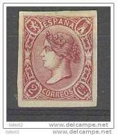 ES069-2692TCCSC.España.Spa In.Espagne.ISABEL Ll 1865.(Ed 69*)con Charnela.CERTIFICADO.LUJO - Celebridades