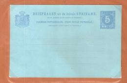 SURINAME PWS BRIEFKAART 5 CT CIJFER  ONGEBRUIKT - Surinam ... - 1975