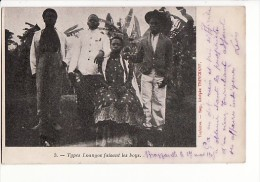 ANGOLA (ou Congo) - Types Loangos Faisant Les Boys / Edition Adolphe Trinchant à Toulouse - Angola