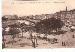 Trouville (Deauville- Calvados)-Reine Des Plages-Les Quais-La Touque-Le Casino-Attelage-Vélo-Commerces Ambulants-Animée - Trouville