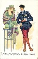 CP Vrouw Soldaat Art Deco - Femme Avec Soldat - Illustr. Pero - L'oiseau Vainqueur - Altri