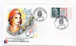 163F) 02 VIVAISE - ENVELOPPE  JOURNEE DU TIMBRE - 4 MARS 1995 - Journée Du Timbre