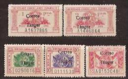 TA142-L4122TESS.Maroc.Marocco.TANGER.SERVICIOS  DERECHOS CONSULARES.1938 (Ed 142/6**) Sin Charnela.MUY BONITO..RARO - Sellos