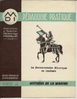 """8 Sup. Gravures-1956-DOSSIER""""HISTOIRE DE LA MARINE""""-caravelle,NORMANDIE,LA FAYETTE,vapeur,GALION,etc. .Péda.Pratiq. N°35 - Gravuren"""