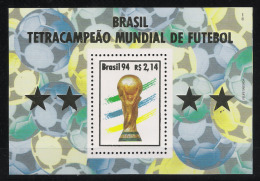 1994 Brasilien Mi# 2633 Bl. 96 ** MNH Fußball Football Soccer Sport WM FIFA USA 94 - World Cup