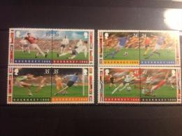 Guernsey - Postfris Complete Serie Duo's EK Voetbal 1996 - Guernsey