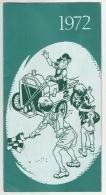- Kalender  1972 -  GELUKKIG NIEUWJAAR -  N.V. PARK  GARAGE  Antwerpen - Calendriers
