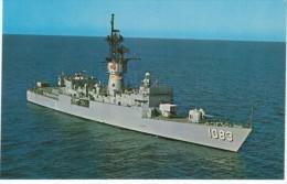 USS Cook DE-1083 US Navy Destroyer Escort Ship, C1970s Vintage Postcard - Guerra