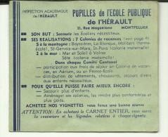 CARNET DE 6 TIMBRES AVIATION   ECOLE PUBLIQUE DE L HERAUTT - Zonder Classificatie