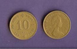 HONG KONG 1982-1984 Used Coin 10 Cents KM49 - Hong Kong