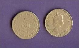 MALAYA-NORTH BORNEO 1953-1961 Normally Used Coin 5 Cent KM 1 - Malaysia