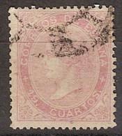 España U 0090 (o) Isabel II. 1867. 19 Cuartos - Used Stamps